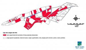 Une carte des usages apparents des marais