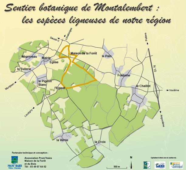 Carte sentier botanique