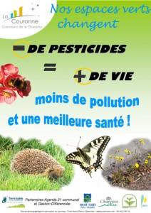 Affiche 'Moins de pesticides = plus de vie'